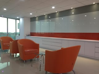 Interior Kantor Marketing FWD Life Indonesia Roemah Cantik Study/officeAccessories & decoration Orange