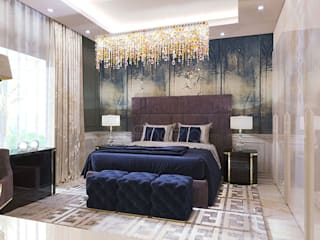 Eclectic style bedroom by Spazio Interior Decoration LLC Eclectic