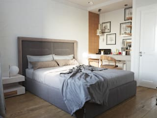 Дизайн квартиры 97 кв.м. г.Москва Спальня в стиле минимализм от Дизайн студия Simply House Минимализм
