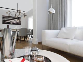 Дизайн квартиры 97 кв.м. г.Москва Гостиная в стиле минимализм от Дизайн студия Simply House Минимализм