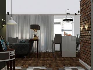Квартира-студия в стиле Лофт Гостиная в стиле лофт от Дизайн студия Simply House Лофт