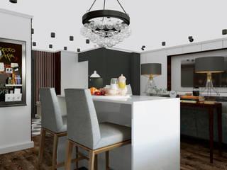 Квартира-студия в стиле Лофт Столовая комната в стиле лофт от Дизайн студия Simply House Лофт