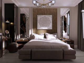 Дизайн квартиры 80 кв.м. Спальня в стиле минимализм от Дизайн студия Simply House Минимализм