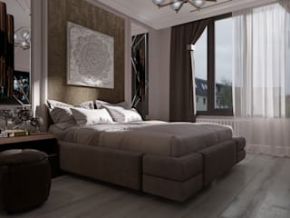 Дизайн квартиры 80 кв.м.: Спальни в . Автор – Дизайн студия Simply House