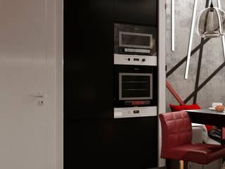 Дизайн квартиры 50 кв.м. Кухня в стиле лофт от Дизайн студия Simply House Лофт