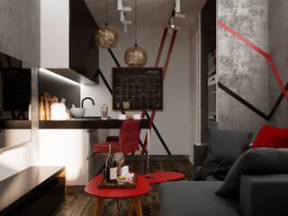 Дизайн квартиры 50 кв.м. Гостиная в стиле лофт от Дизайн студия Simply House Лофт