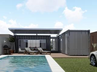 ARBOL Arquitectos Industrial style pool