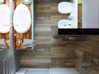 Дизайн детских комнат 40 кв.м.: Ванные комнаты в . Автор – Дизайн студия Simply House