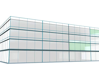 Sq4 oficinas y area comercial: Edificios de Oficinas de estilo  por Grupo Entorno