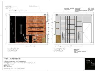 Bureau moderne par A|S Studio Criativo 3D - Soluções Inteligentes em projetos técnicos Moderne