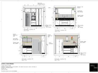 Cocinas integrales de estilo  de A|S Studio Criativo 3D -  Soluções Inteligentes em projetos técnicos, Moderno