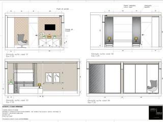 Vestidores de estilo  de A|S Studio Criativo 3D -  Soluções Inteligentes em projetos técnicos, Moderno