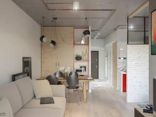 Livings de estilo moderno por Santoro Design Render