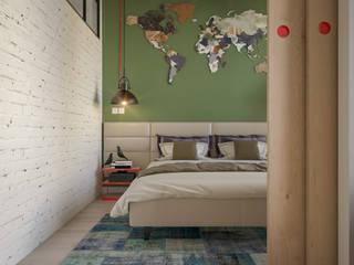 Dormitorios de estilo moderno por Santoro Design Render