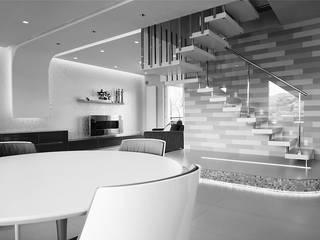 D&AV apartment Sala da pranzo moderna di Studio ARCHEXTE' _ Vincenzo Castaldi Architetto Moderno