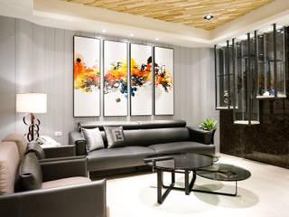 Ruang Keluarga oleh 沐築空間設計, Eklektik