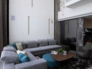 喆境:  客廳 by 築青室內裝修有限公司
