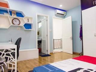 Phòng ngủ ấm cúng, sang trọng:  Phòng ngủ by Công ty TNHH Xây Dựng TM – DV Song Phát