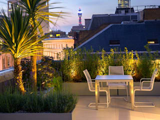 Roof terrace landscaping MyLandscapes Garden Design 露臺