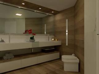 Banheiro de Suíte Contemporânea: Banheiros  por Virna Carvalho Arquiteta,Moderno