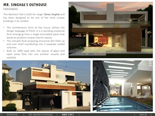 OUTHOUSE: modern Houses by amitmurao.com