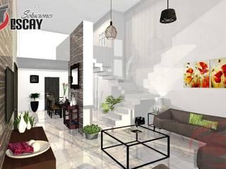 PROYECTO CHICHI Salones modernos de Escay Soluciones Moderno