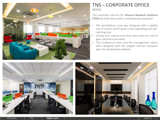 TNS – CORPORATE OFFICE, Noida:  Office buildings by amitmurao.com