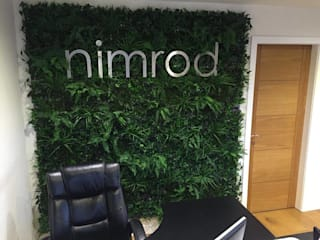 decorating your office reception with Hedged In instant artificial green wall:  Walls by Hedged In Ltd