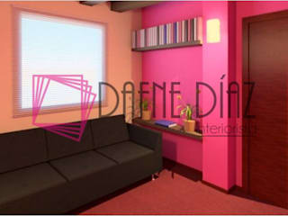 Diseñadora de Interiores Dafne Diaz Interiorista Clínicas y consultorios médicos de estilo moderno Rosa
