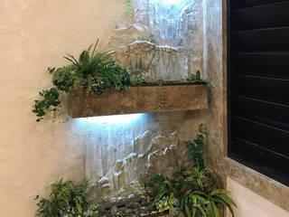 искусственный водопад в интерьере:  в . Автор – Художественная мастерская 'Оникс'