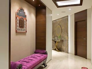 The Warm Bliss Modern corridor, hallway & stairs by Milind Pai - Architects & Interior Designers Modern