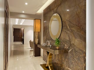 The Warm Bliss Modern corridor, hallway & stairs by Ar. Milind Pai Modern Marble
