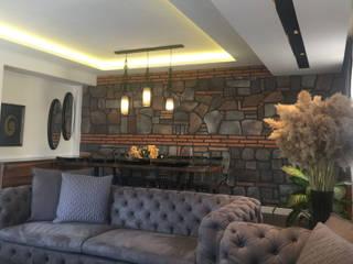 LIA Mimarlik İcmimarlik – Koç Evi Konut İç Mekan Tasarımı:  tarz Oturma Odası