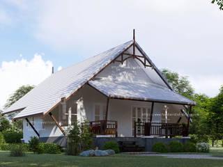 บ้านชั้นเดียว 78ตร.ม.: คลาสสิก  โดย fewdavid3d-design, คลาสสิค