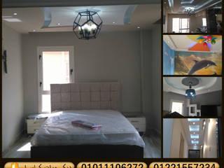 شركات تشطيب وديكور في القاهرة ( تشطيب وديكور لشقة في أكتوبر من شركة كاسل castle2018 ):  غرفة نوم تنفيذ كاسل للإستشارات الهندسية وأعمال الديكور في القاهرة, صناعي