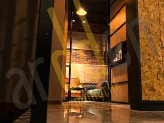 Ardden İç Mimarlık / Cadde 1071 Hairdresser Projesi Rustik Koridor, Hol & Merdivenler CAB İç Mimarlık / Proje / Tasarım / Uygulama / Danışmanlık Rustik