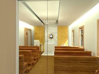 Capela Igreja Menino Jesus de Praga: Salas de estar  por Maria Dulce arquitetura,Moderno