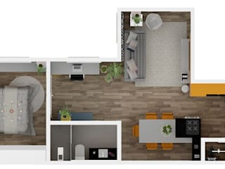 Arquiteto Virtual - Projetos On lIne Modern Living Room Wood Wood effect