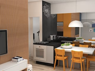 Arquiteto Virtual - Projetos On lIne Dapur built in MDF Orange