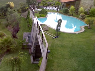 Rustic style gardens by JP Revestimentos, Isolamentos e Piscinas Rustic