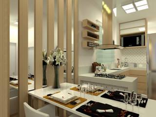 Laene Carvalho Arquitetura e Interiores ห้องทานข้าว Wood effect