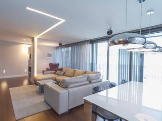 Muka Design Lab Moderne Wohnzimmer Weiß