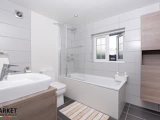 Isleworth House Loft and Rear Extension  : modern Bathroom by The Market Design & Build