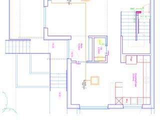Piso 1º - Rede Unifilar das Linhas de Gás e Liquido da Instalação Ar Condicionado:   por EUROLESS ENGENHARIA