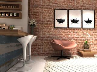 Salas de estilo rústico de Multiplanos Arquitetura Rústico