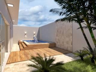 Residencia Acácias: Piscinas de jardim  por Sitá Arquitetura e Urbanismo,Moderno
