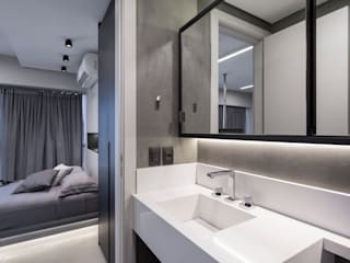 projeto banho contemporâneo Banheiros modernos por ABHP ARQUITETURA Moderno