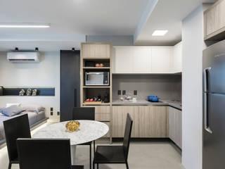 projeto apartamento flat contemporâneo por ABHP ARQUITETURA Minimalista