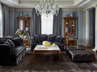 Вилла в классическом стиле: Гостиная в . Автор – Maxim Rymar archistudio