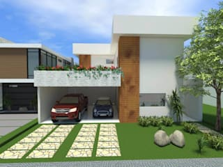 Fachada: Casas  por Imaginare Arquitetura e Interiores